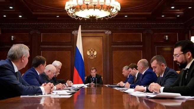 Совещание о развитии Государственной корпорации по космической деятельности «Роскосмос»