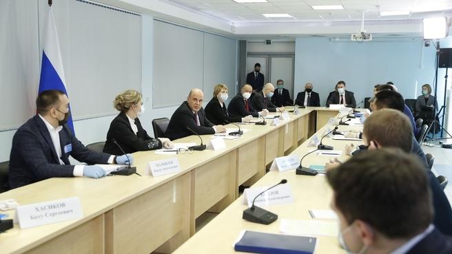 Встреча с представителями малого и среднего бизнеса Республики Калмыкия, занятыми в сфере АПК