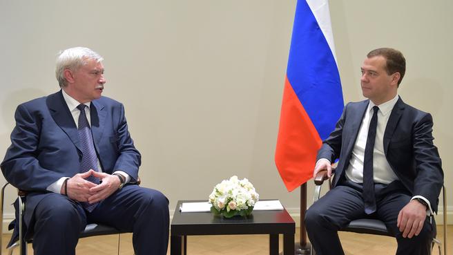 Рабочая встреча с губернатором Санкт-Петербурга Георгием Полтавченко
