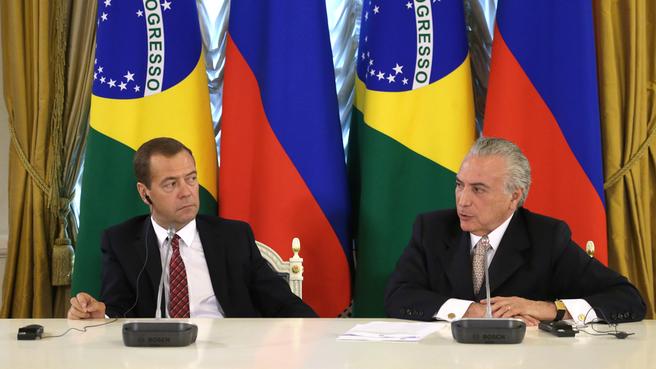 Пресс-конференция по итогам заседания Российско-Бразильской комиссии высокого уровня