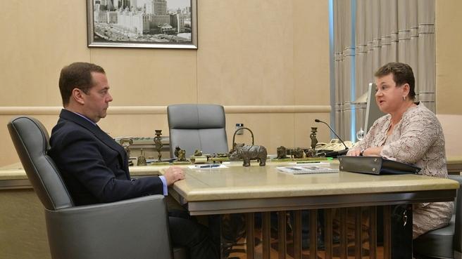 Встреча с губернатором Владимирской области Светланой Орловой