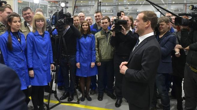 Беседа с работниками Кировского машиностроительного предприятия