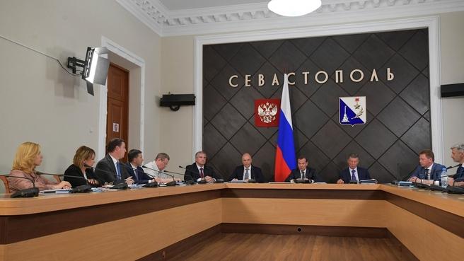 Совещание о социально-экономическом развитии Республики Крым и Севастополя