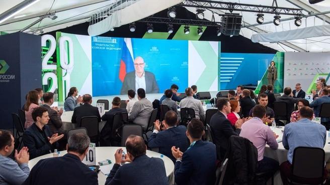 Дмитрий Чернышенко поприветствовал финалистов трека «Информационные технологии» конкурса «Лидеры России»
