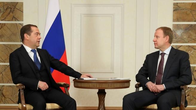 Встреча с губернатором Алтайского края Виктором Томенко