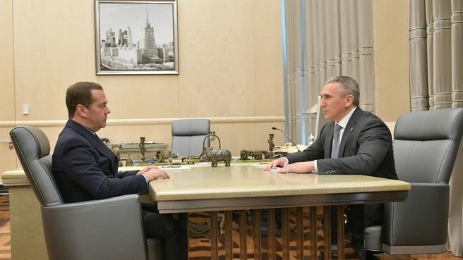 Встреча с временно исполняющим обязанности губернатора Тюменской области Александром Моором