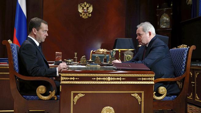 Рабочая встреча с губернатором Пермского края Виктором Басаргиным