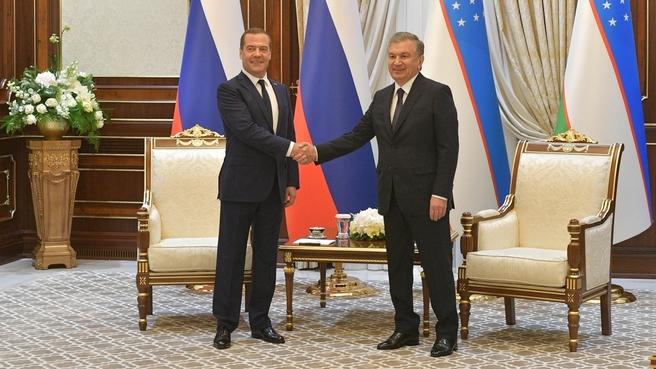 Встреча  с Президентом Узбекистана Шавкатом Мирзиёевым