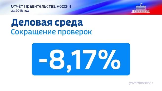 К отчёту о результатах деятельности Правительства России за 2018 год. Слайд 47
