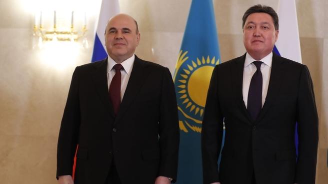 Meeting with Prime Minister of Kazakhstan Askar Mamin