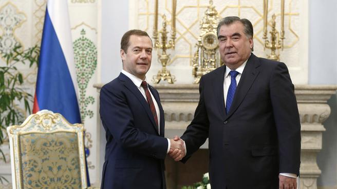 Встреча с Президентом Таджикистана Эмомали Рахмоном