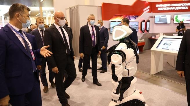 Дмитрий Чернышенко на  Международном форуме «Технопром-2021» в Новосибирске
