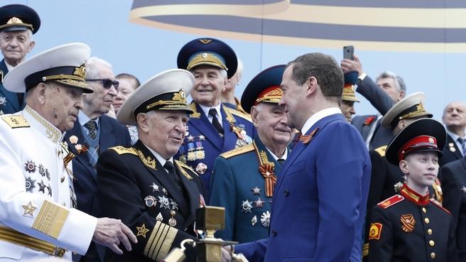 На военном параде в честь 74-й годовщины Победы в Великой Отечественной войне