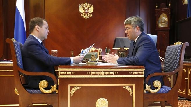 Встреча с главой Республики Бурятия Алексеем Цыденовым