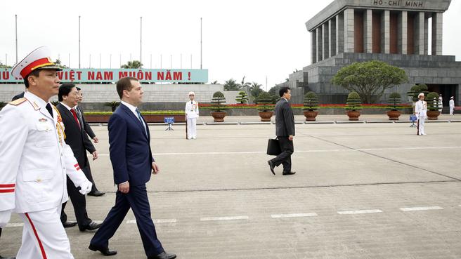 Посещение Мавзолея Хо Ши Мина