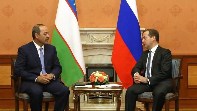 Встреча с Премьер-министром Узбекистана Абдуллой Ариповым