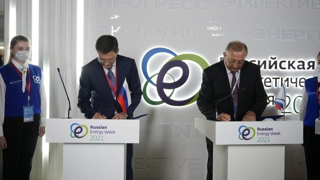 Александр Новак и Николай Токарев  председатель правления, президент ПАО «Транснефть»