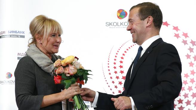 Вручение премий SKOLKOVO Trend Awards 2015. C вице-президентом ООО «ЕвразХолдинг» Натальей Ионовой