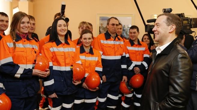 Посещение обогатительной фабрики «Матюшинская». Беседа с рабочими