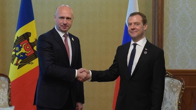 Встреча с Премьер-министром Молдавии Павлом Филипом