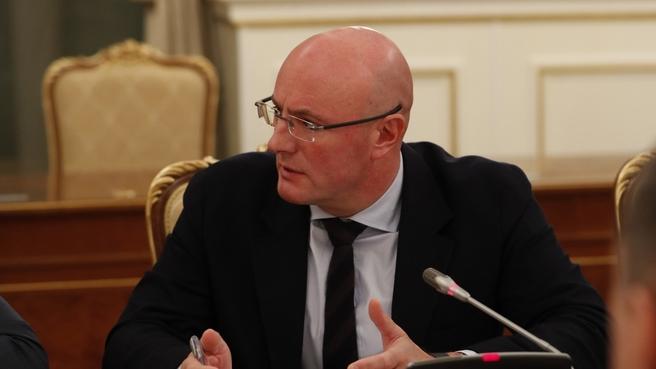 Заместитель Председателя Правительства Дмитрий Чернышенко на оперативном совещании с вице-премьерами