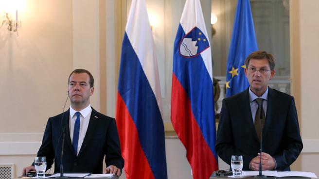 Пресс-конференция по завершении российско-словенских переговоров