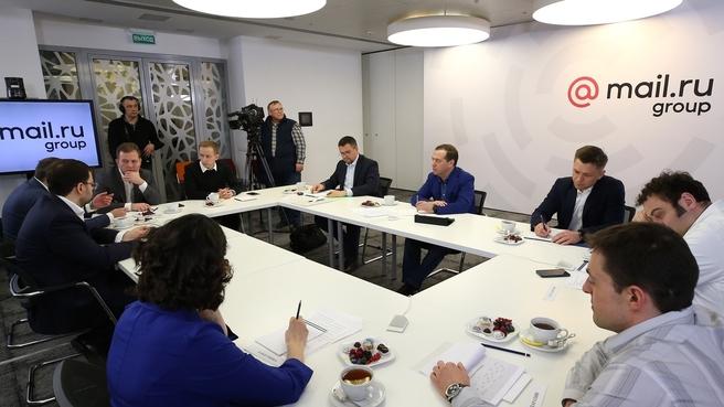 Встреча с руководителями ведущих российских IT-компаний