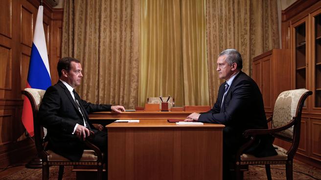 Беседа с главой Республики Крым Сергеем Аксёновым