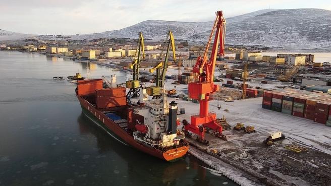 Реконструируемый морской порт Певек