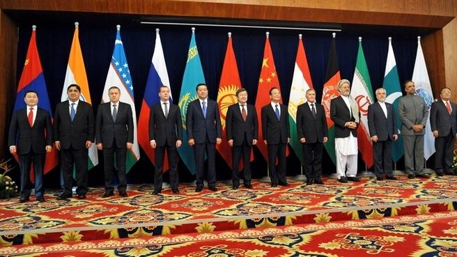 Заседание Совета глав правительств государств–членов Шанхайской организации сотрудничества (ШОС)