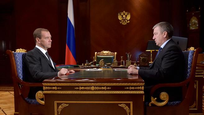 Встреча с главой Республики Карелия Александром Худилайненом