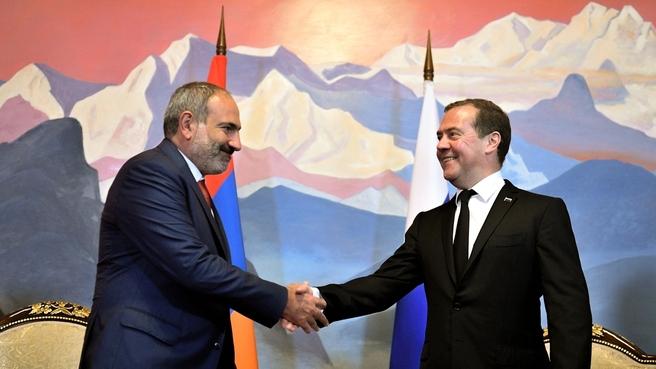 Встреча с Премьер-министром Армении Николом Пашиняном