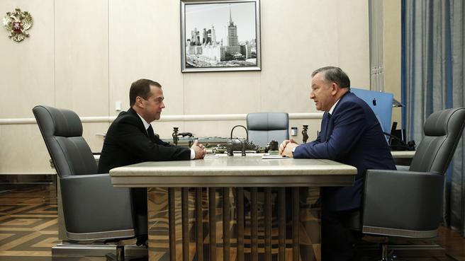 Встреча с губернатором Алтайского края Александром Карлиным