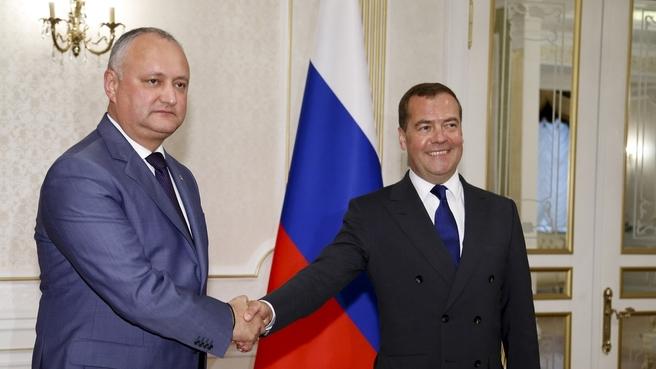 Встреча с Президентом Республики Молдова Игорем Додоном