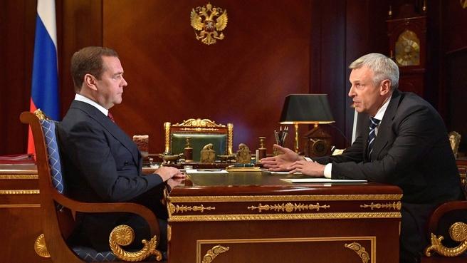 Встреча с временно исполняющим обязанности губернатора Магаданской области Сергеем Носовым