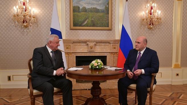 Встреча с Председателем Коллегии Евразийской экономической комиссии Михаилом Мясниковичем