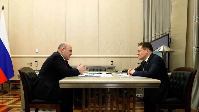 Встреча с генеральным директором государственной корпорации «Росатом» Алексеем Лихачёвым