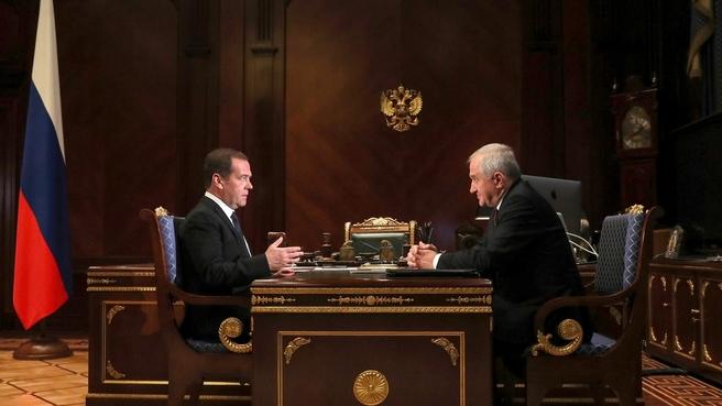 Встреча c руководителем Федеральной таможенной службы Владимиром Булавиным