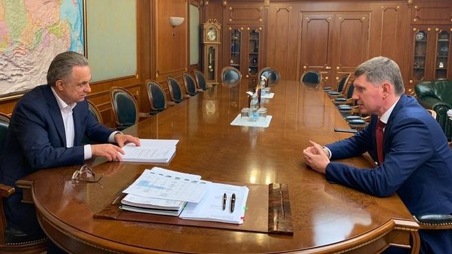 Встреча Виталия Мутко с губернатором Пермского края Максимом Решетниковым