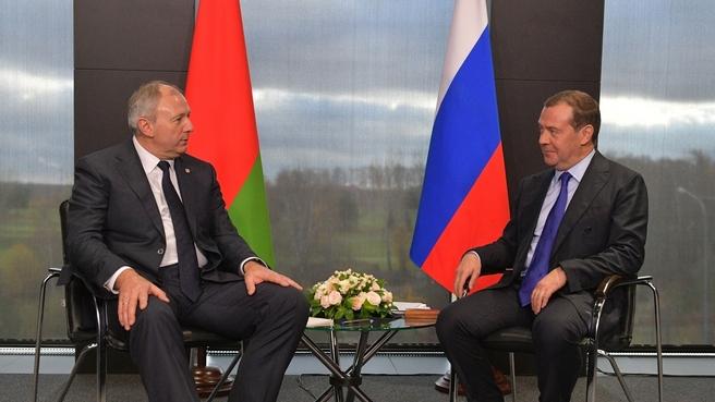 Встреча с Премьер-министром Белоруссии Сергеем Румасом