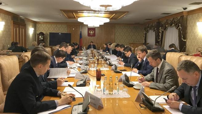 Заседание проектного комитета национального проекта «Экология»