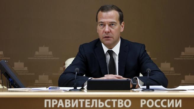 Дмитрий Медведев на селекторном совещании о ходе реализации Концепции демографической политики
