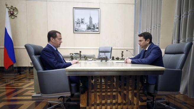Встреча с временно исполняющим обязанности губернатора Мурманской области Андреем Чибисом