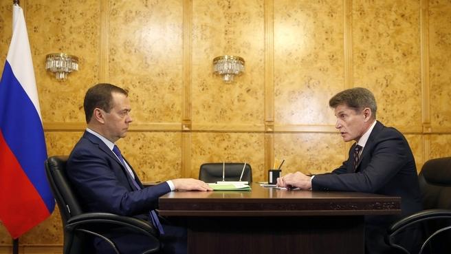 Встреча с временно исполняющим обязанности губернатора Приморского края Олегом Кожемяко