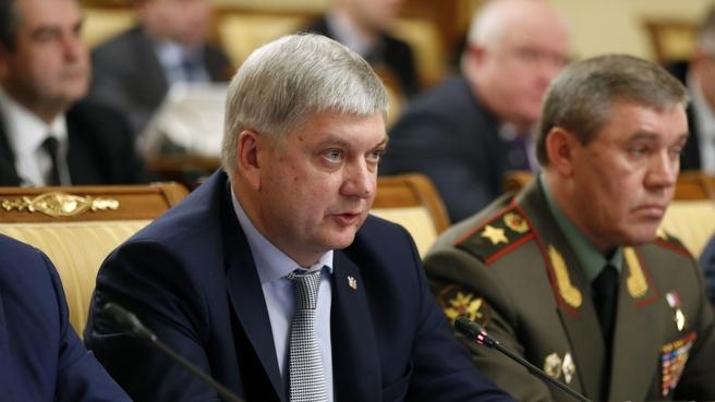 Сообщение губернатора Воронежской области Александра Гусева на заседании Правительства