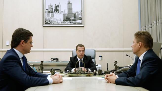 Встреча с Министром энергетики Александром Новаком и председателем правления ОАО «Газпром» Алексеем Миллером