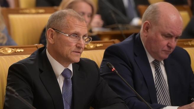 Доклад заместителя Министра экономического развития Евгения Елина на заседании Правительства