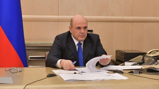 Михаил Мишустин на встрече с руководством фракции партии «Справедливая Россия» в Государственной Думе
