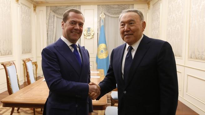 Встреча с Президентом Казахстана Нурсултаном Назарбаевым