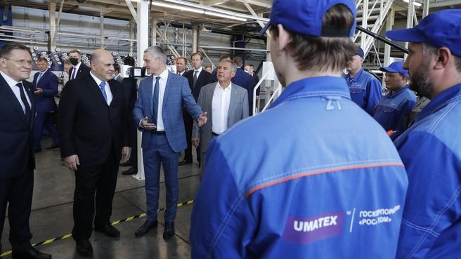 Посещение завода «Алабуга – Волокно». Общение с работниками предприятия